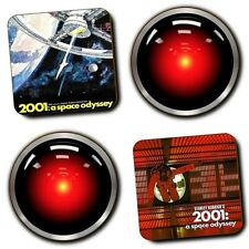 2001 A Space Odyssey Movie - Hal 9000 - Coasters - Wood - Set Of 4 - Sci-Fi Film
