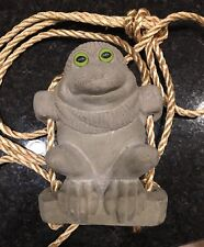 Accents Unlimited Rope Swinger Hand Made Clay Frog Outdoor Decor Rare EUC