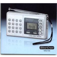 Weltempfänger 8 Band Radio SilverCrest 2100 Wecker Uhr Teleskopantenne Kopfhörer