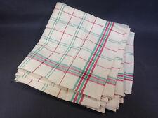Lot 6 anciennes serviettes de table linge de Gerardmer Vosges lin et coton neuf
