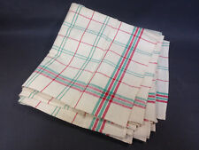 Lot 6 Old Table Napkins - Dryer Gerardmer Vosges Linen & Cotton New