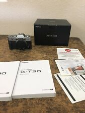 Fujifilm X-T30 Mirrorless Camera - Silver (Body Only) - Excellent Condition