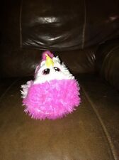 "Stuffies Pink Plush Baby Unicorn Horse 10"" with Secret Pocket Magnetic Hoofs"