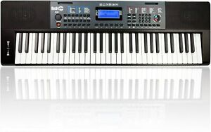 E-Keyboard RockJam RJ461 Musik Instrument Digital Klavier 61 Tasten Schwarz