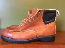 Vintage Tuff Tread Brown Leather Steel Toed Rockabilly Working Boots Sz 9 Shoes