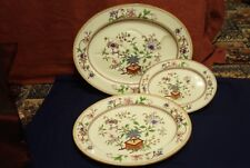 X3  Graduated 5969 Pat  Royal Worcester Serving Platters -  - Indian Tree - 1889
