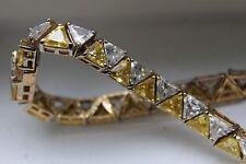 Stunning 925 UTC Yellow Cubic Zirconia Quartz Citrine SimulateTriangle Bracelet