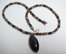 & Hematite Necklace Ocean Jasper Sterling