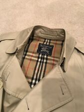 Men's Vintage Original 1980 Burberry Beige Trench Rain Coat/ NEW PHOTOS ADDED