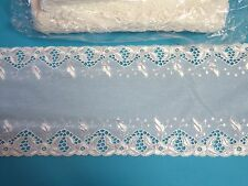 Bischoff White Swiss Embroidery Lace Trim ~ 4 Metres ~Swiss made ~