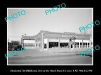 OLD LARGE HISTORIC PHOTO OF OKLAHOMA CITY OK, THE MACK TRUCK STORE c1950