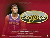 2020-21 Panini NBA Certified Basketball Hobby Box (Factory Sealed) Zion Lamelo