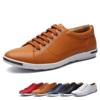 Mens Leather Shoes Soft Sole Casual Driving Antislip Loafers Sneakers Plus Sizes
