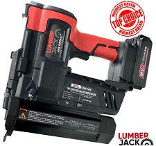 Lumberjack Nail Gun & Stapler Cordless Li-Ion 18v 2nd Fix Brad Nailer with Case
