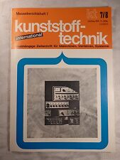 Zeitschrift Kunststofftechnik international Juli / August 1972
