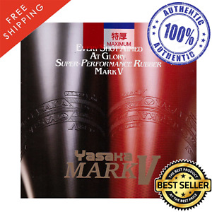 Yasaka Mark V Table Tennis and Ping Pong Rubber, Choose Your Color and Thickness