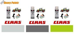 Claas Telehandler Green Light Grey Dark Grey Enamel Paint 400ml Aerosols