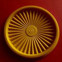 Vintage Tupperware Lid Servolier Dark Yellow 5 Inches
