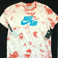 New Nike Air Logo Tie Dye T-Shirt Pink White Blue BQ0079 100 Men's Sz L
