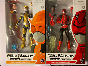 power rangers lightning collection Beast Morphers Set Red And Gold Ranger