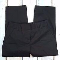 Rafaella Black Cotton Stretch Flat Front Career Work Capri Pants Women's 6 30x23