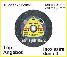 10 INOX Trennscheiben 180x1,6 oder 230x1,9 mm Klingspor A46TZ  ab 1,85€