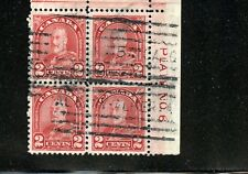 LOT 50769 USED 165 PLATE BLOCK 6 KING GEORGE V