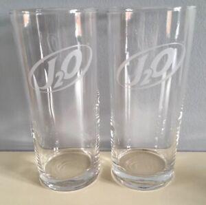 2 X NEW RETRO J2O DRINK GLASSES