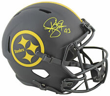 Steelers Troy Polamalu Signed Eclipse Full Size Speed Rep Helmet BAS Witnessed