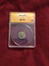 1865 US Three Cent Nickel 3c Copper ANACS MS 62
