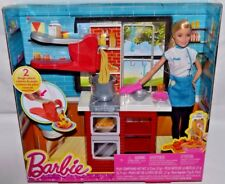 NIB-2015 BARBIE SPAGHETTI CHEF PLAYSET WITH DOLL-2 PLAYDOHS,SPAGHETTI MAKER,OVEN