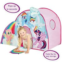 MY LITTLE PONY POP UP ROLE PLAY TENT CHILDRENS FUN OFFICIAL NEW