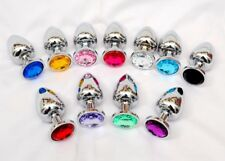 LOT JEWEL BUTT PLUGS - 50 Pieces / WHOLESALE, BRAND NEW WRAPPED with POUCHES!