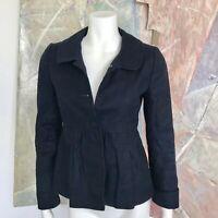 J. Crew Dark Navy Blue Linen Blend J.Crew Womens Blazer Jacket A8 Size 0