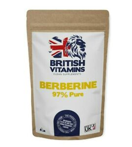 Clean Berberine 97% purity Genuine 473.36mg equivalent to 14640mg 100% Natural