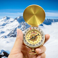 Camping Compass Portable Classic Outdoor Pocket Watch Bronzing Hiking Luminous