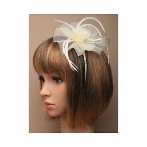 Large fascinator Ladies Day Ascot Races, Prom CREAM, headband