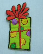 CHRISTMAS XMAS GIFT PRESENT Embroidered Iron Sew On Cloth Patch Badge  APPLIQUE