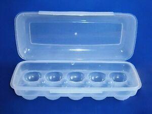 EIERBOX für 10 Eier WEISS Eierdose Eieraufbewahrung Vorratsdose Behälter 97