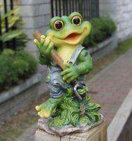 Frosch  29 cm Hoch  Design 11151-3 Deko Garten Gartenzwerg Figuren Dekoration