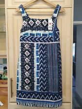 Warehouse Ladies Patchwork Print Shift Dress Size 8 Multi BNWT