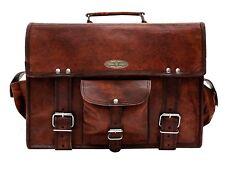 """Handmade_World Messenger 15"""" Laptop Briefcase Shoulder Satchel Bag Men's"""