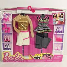 Barbie Fashion 2-Pack Glam Rock Style 2015 Clothes Set Accessories Fashionista