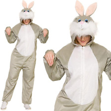 Deluxe Adult Unisex Easter Bunny Rabbit Costume Fancy Dress Jumpsuit Outfit New