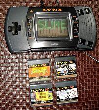 ATARI LYNX II Handheld Console Works Well AC & 5 Games Slime, Viking, Dracula +2