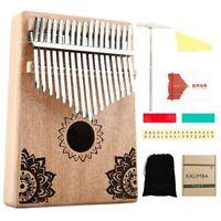 17 Key Kalimba African Solid Wood Thumb Finger Piano Sanza Mbira Calimba P Z6G6
