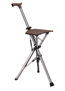 85cm Ta-Da Chair Folding Aluminium Tripod Cane Chair Portable Walking, Brand New