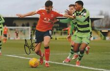 Olly Lee (Luton Town) Signed 12x8 Colour Photo