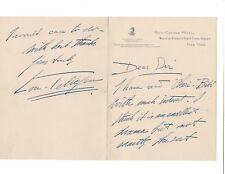 """Lou Tellegen Autographed Note Signed 1930s / Silent Film Actor """"Cheri-Bibi"""""""
