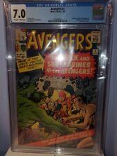Avengers #3 CGC Grade 7.0 1964 Stan Lee and Jack Kirby!